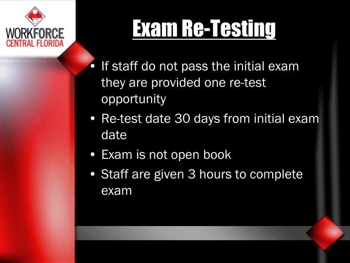Exam Re-Testing