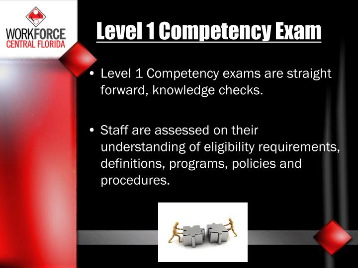 Level 1 Competency Exam