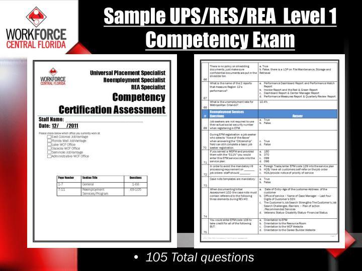 Sample UPS/RES/REA