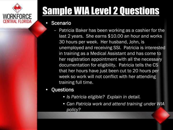 Sample WIA