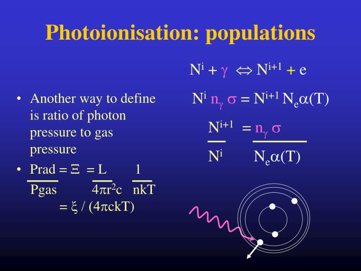 Another way to define is ratio of photon pressure to gas pressure