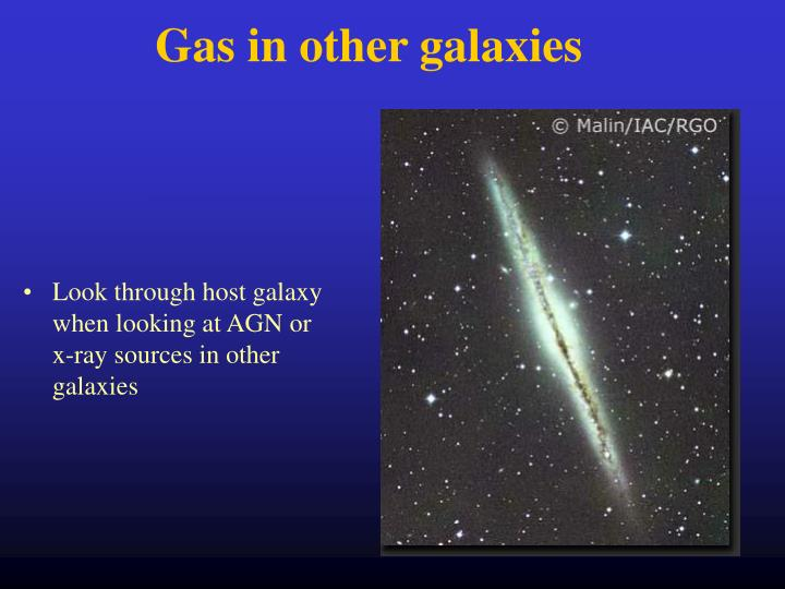 Gas in other galaxies