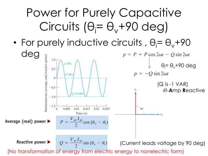 Power for Purely Capacitive Circuits (