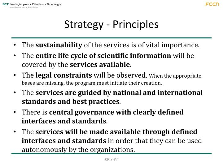 Strategy - Principles