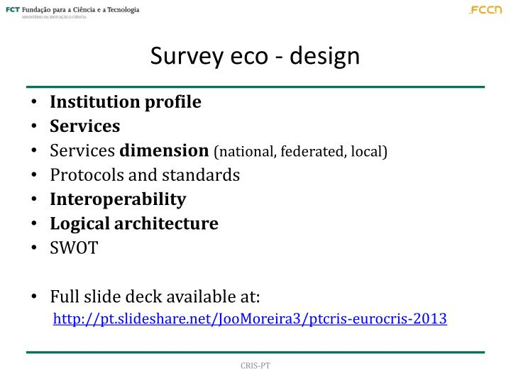 Survey eco - design