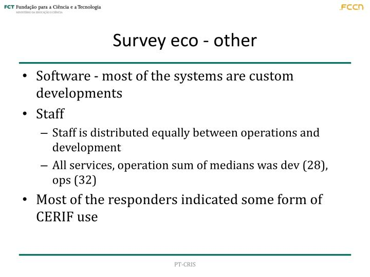 Survey eco - other