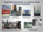 proposed transfer to capital fund 2014 15 projects