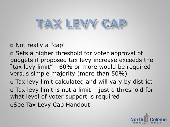 Tax levy cap