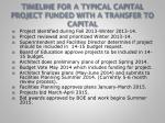 timeline for a typical capital project funded with a transfer to capital