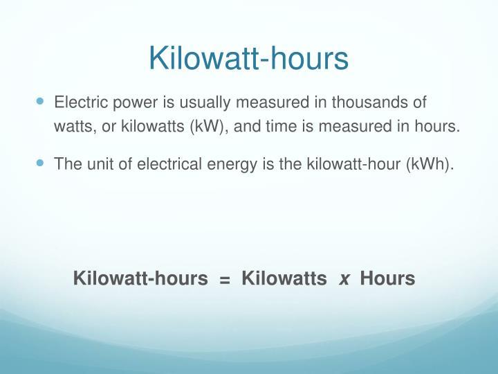 Kilowatt-hours