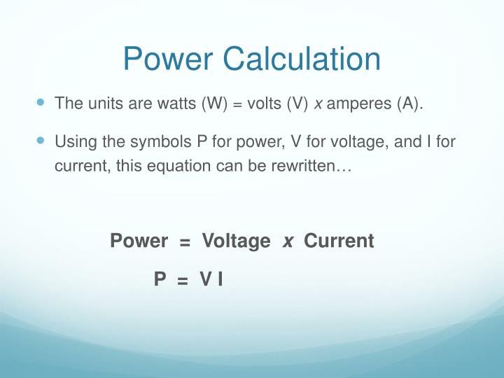Power Calculation