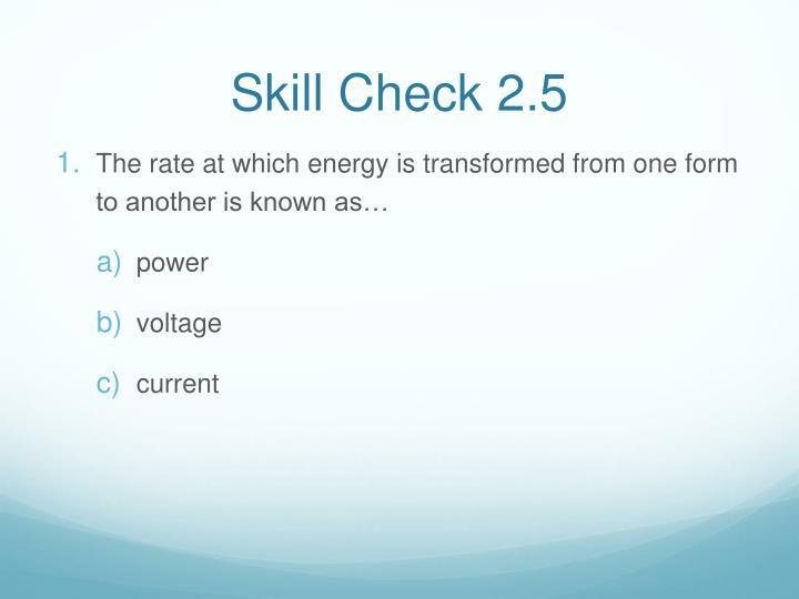 Skill Check 2.5