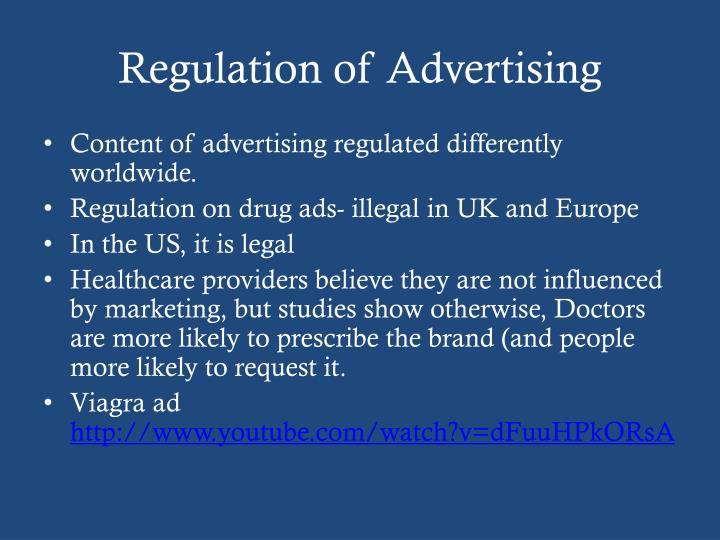 Regulation of Advertising
