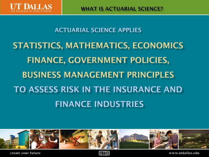 what is actuarial science?