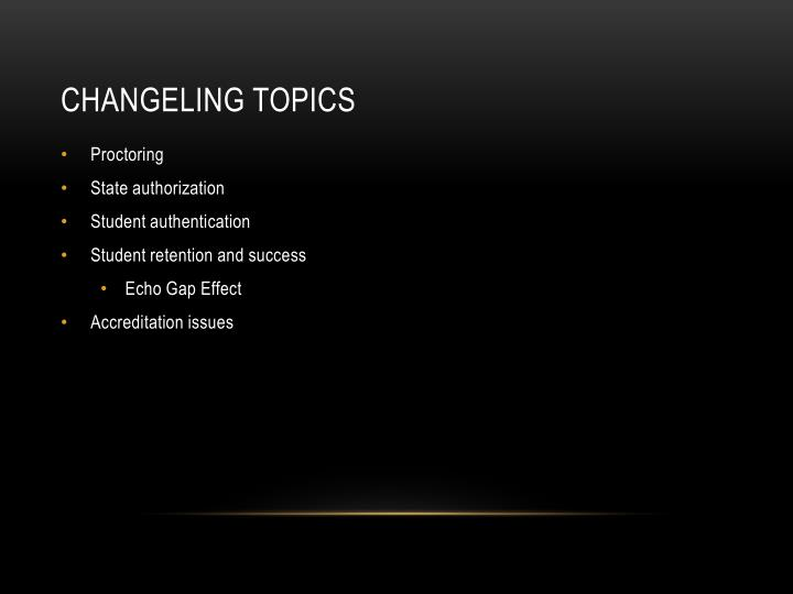 Changeling Topics