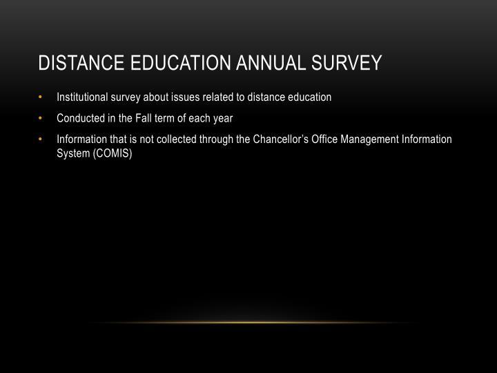 Distance Education Annual Survey