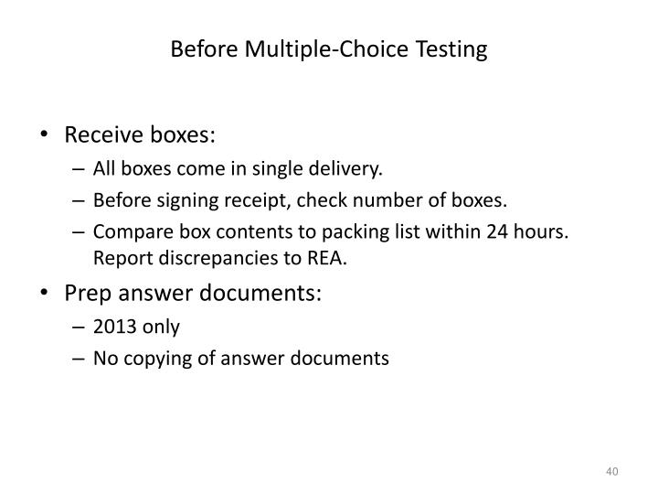 Before Multiple-Choice Testing