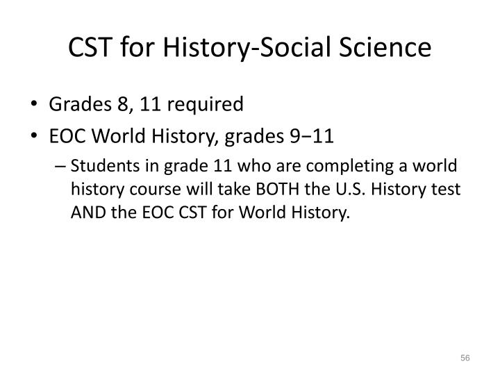 CST for History-Social Science