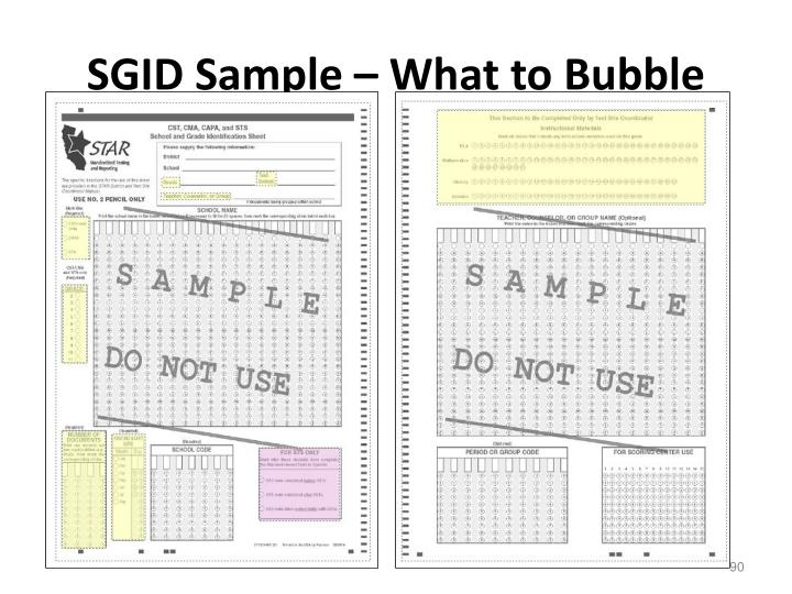 SGID Sample – What to Bubble