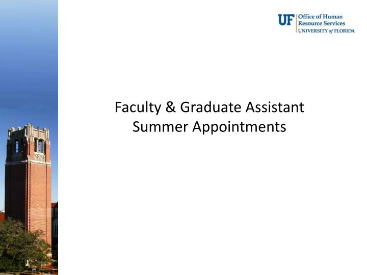 Faculty & Graduate Assistant
