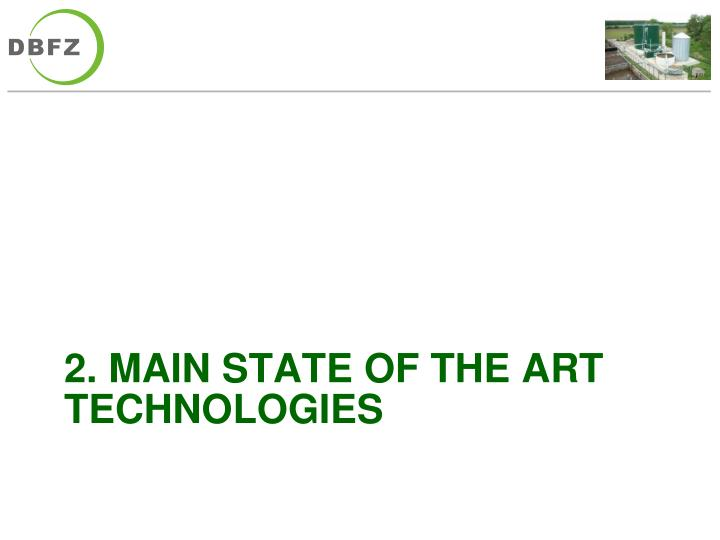 2. main state of the art technologies