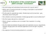 4 evaluation of the overall biogas plant concept conclusion