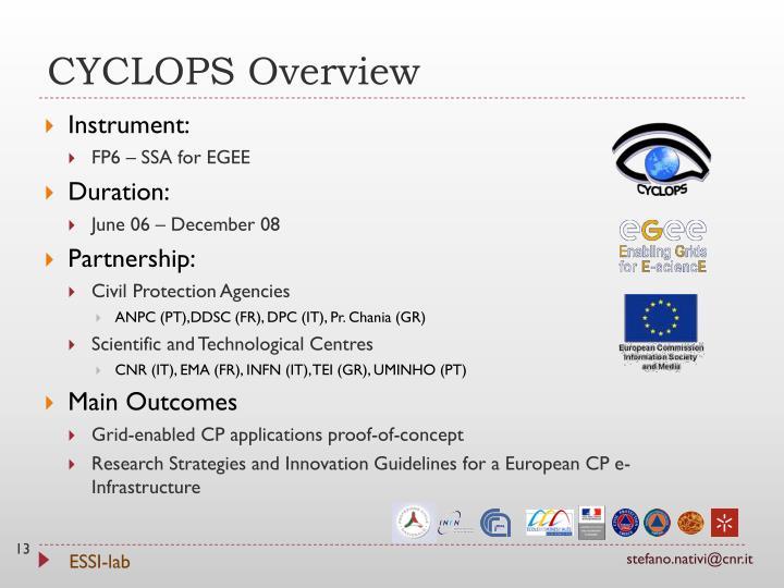 CYCLOPS Overview