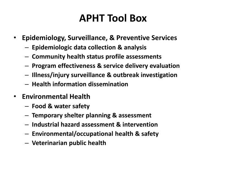APHT Tool Box