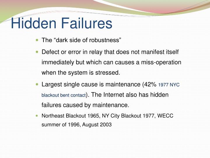 Hidden Failures