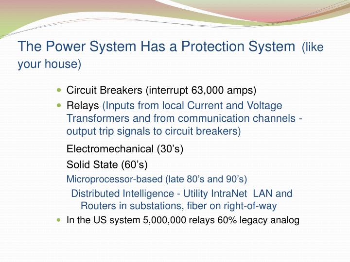 The Power System Has a Protection System