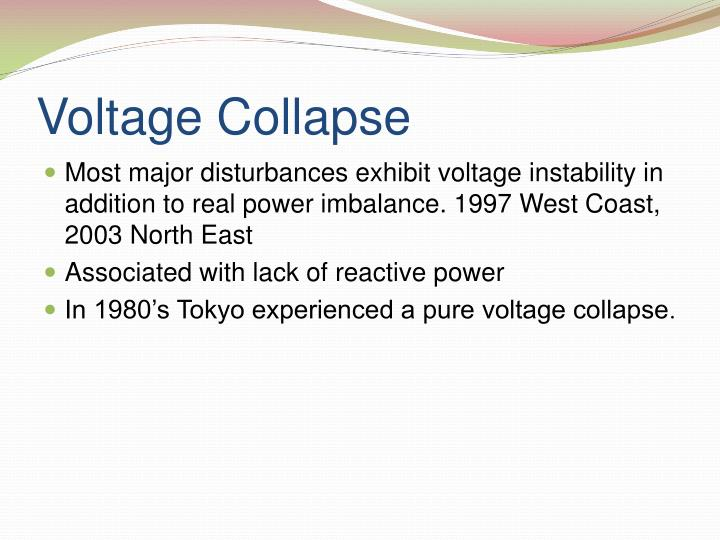 Voltage Collapse