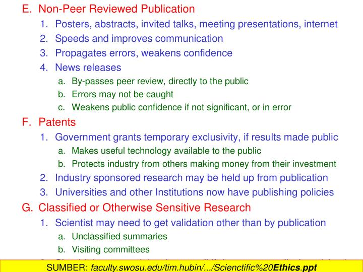 Non-Peer Reviewed Publication