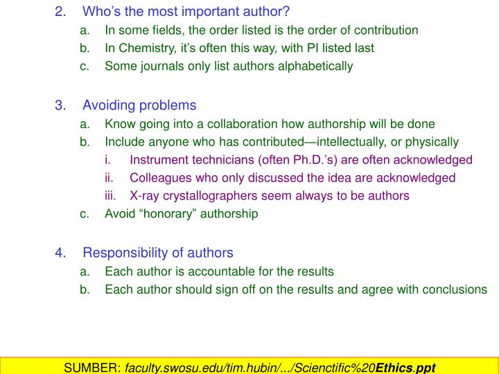 2.Who's the most important author?