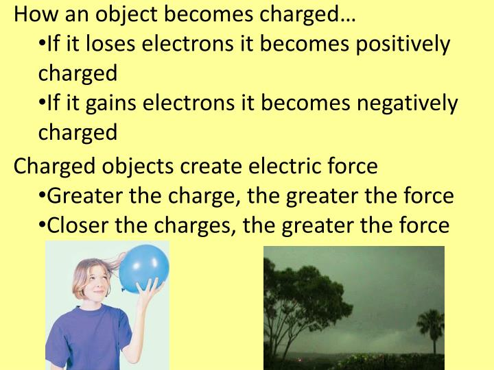 How an object becomes charged…