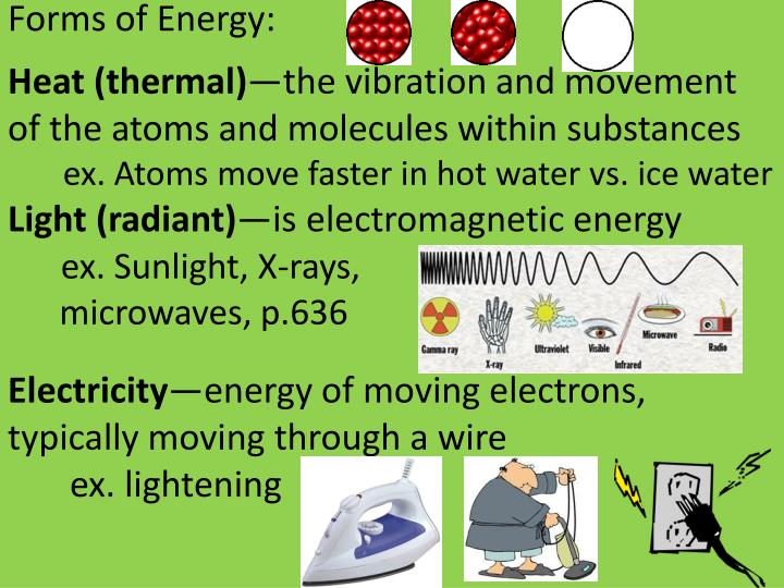 Forms of Energy: