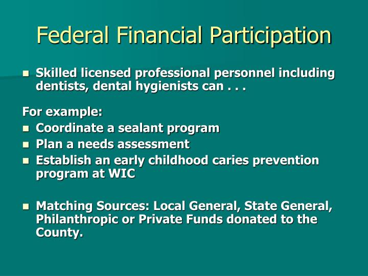 Federal Financial Participation