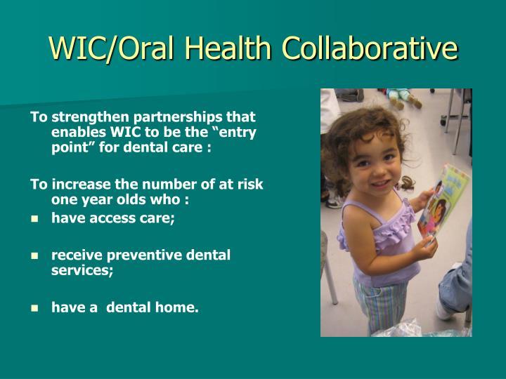 WIC/Oral Health Collaborative
