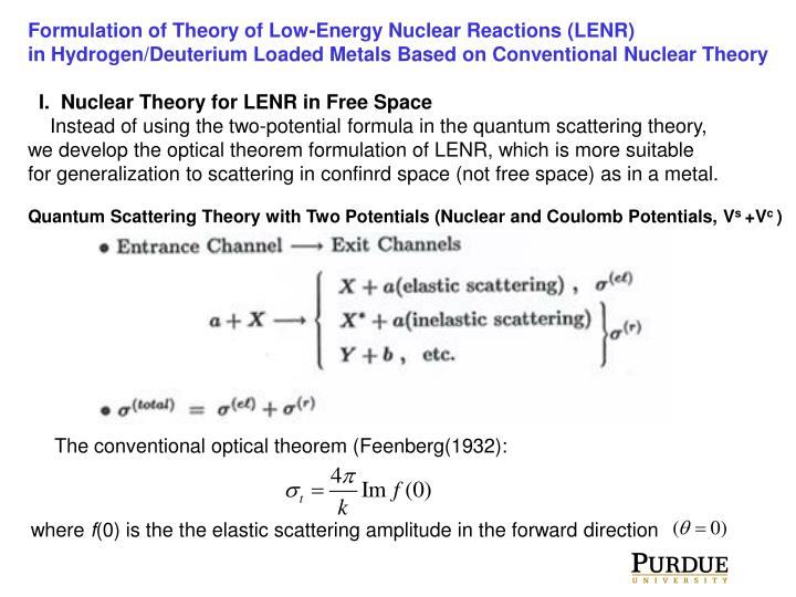 Formulation of Theory of Low-Energy Nuclear Reactions (LENR)