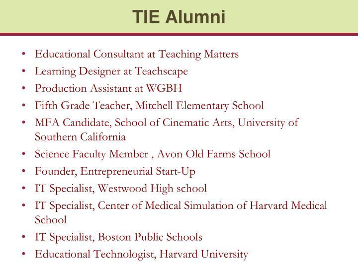 TIE Alumni