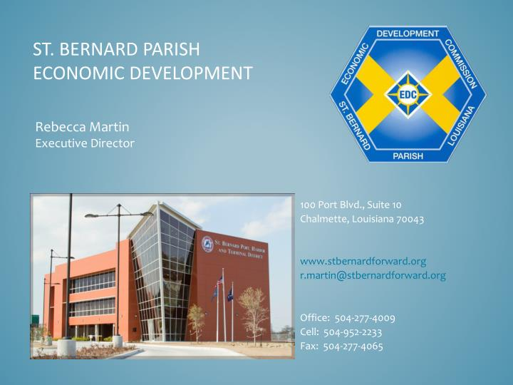 St bernard parish economic development