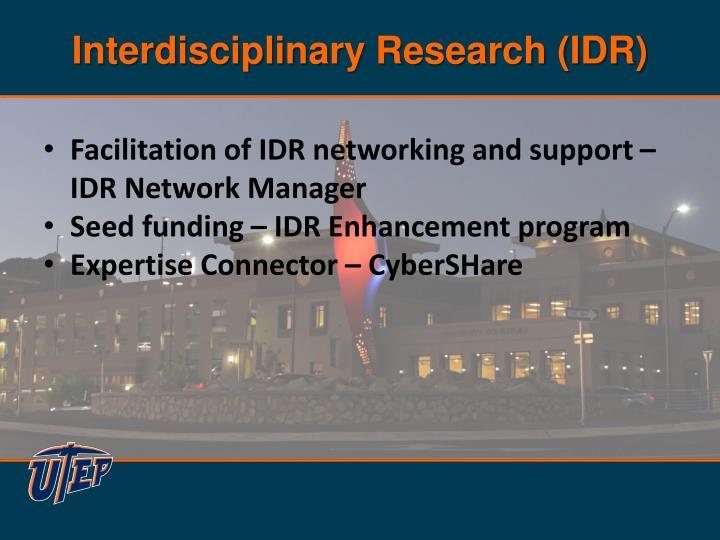 Interdisciplinary Research (IDR)