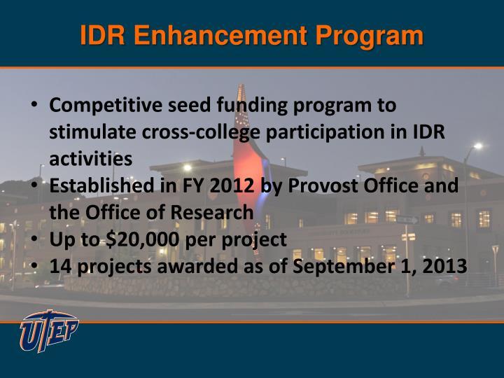 IDR Enhancement Program
