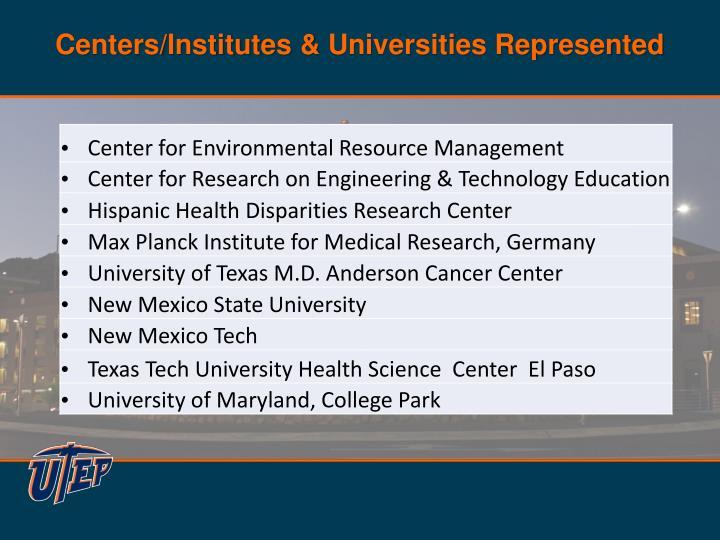Centers/Institutes