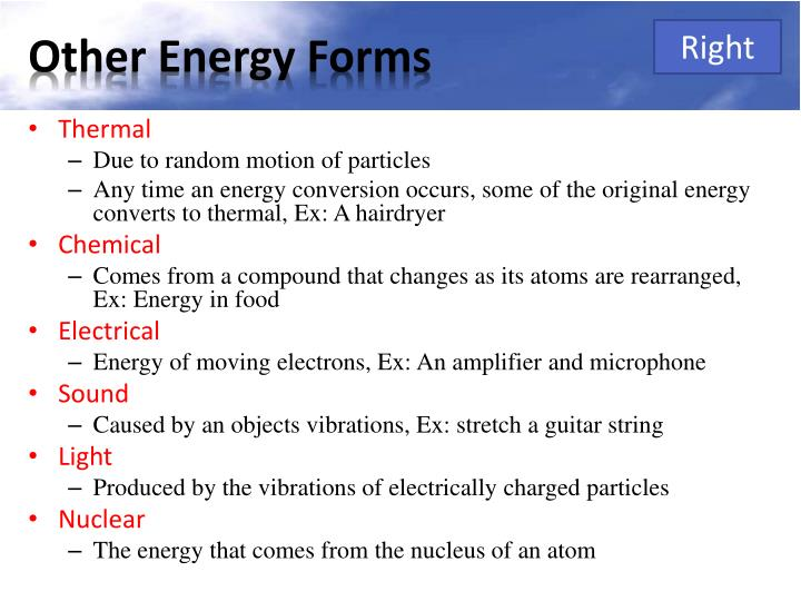 Other Energy Forms