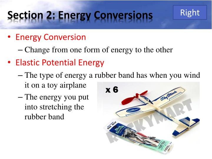 Section 2: Energy Conversions
