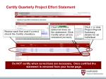 certify quarterly project effort statement