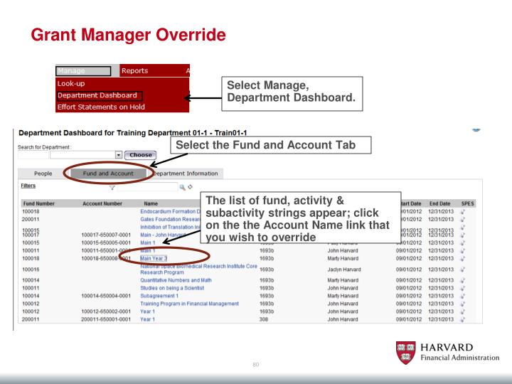 Grant Manager Override