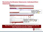 reviewing certification statements individual effort statements1