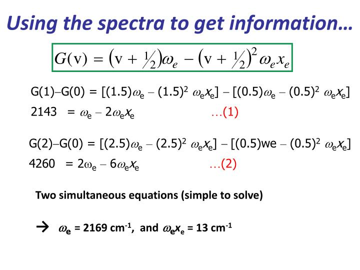 Using the spectra to get information…
