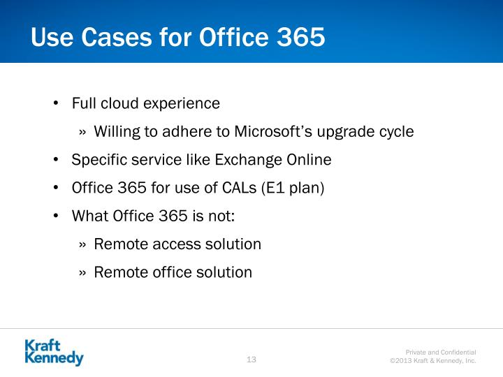 Use Cases for Office 365